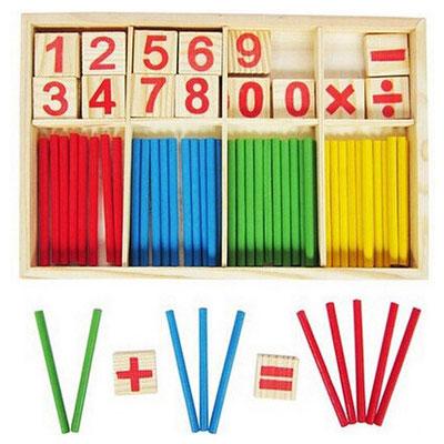 Material Montessori de Madera Juguete de Aprendizaje sensorial de Arte MiSha Tabletas de Color Caja peque/ña